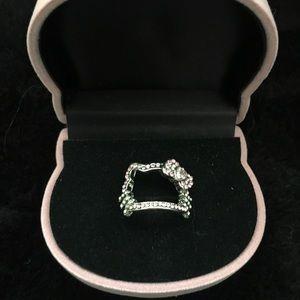 04377f789 Hello Kitty Rhinestone Face Ring - Pink - Size 6